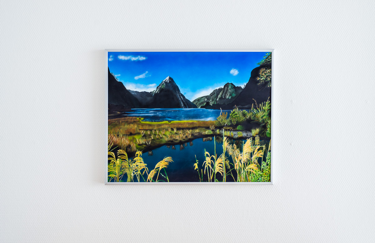 Bild Milford Sounds New Zealand - Airbrush