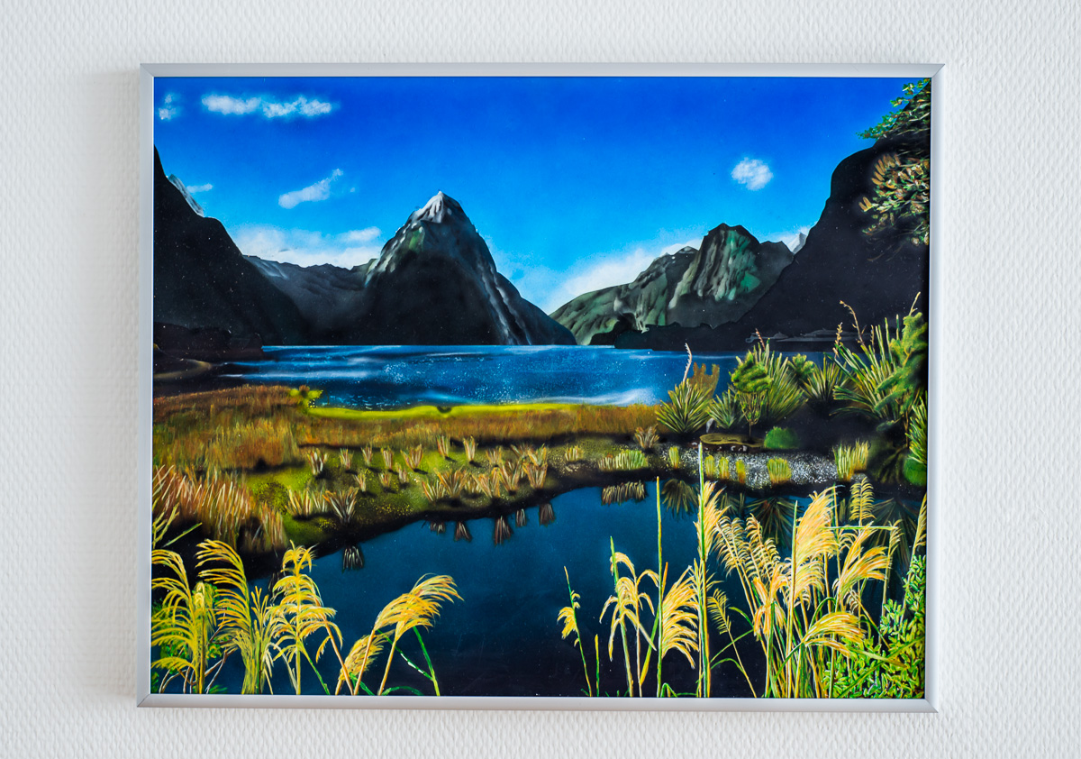 Bild Milford Sounds New Zealand - Airbrush