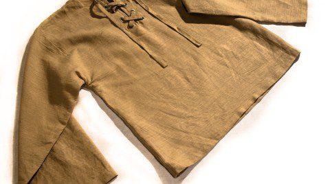 Mittelalterliches Leinenhemd langarm