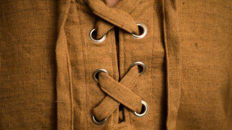 Makro Mittelalter-Leinenhemd